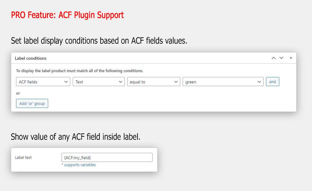 ACF plugin support