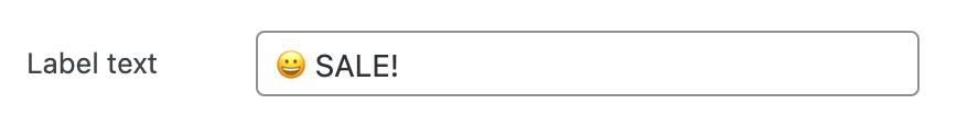 Label text option
