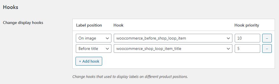 Hooks option