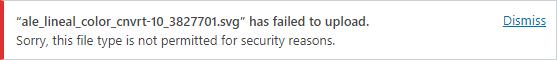 SVG upload error