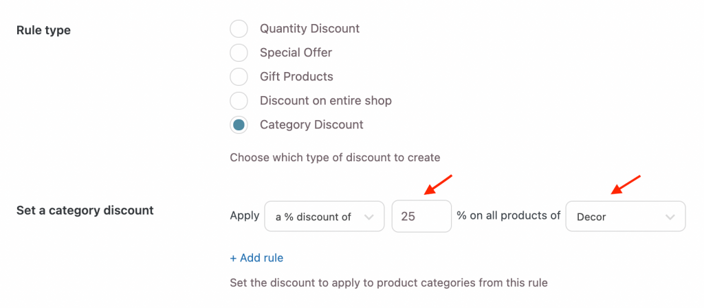 YITH discount rules